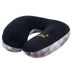 Plaid Travel Pillow  - Black – by XpresSpa