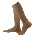 Compression Flight Socks - Sheer Nude Dark